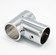 SC3 Chrome T-Stanchion with Rivet Hole
