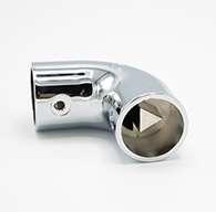 SC3 Chrome Elbow Stanchion with Rivet Hole