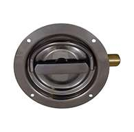 The original D Ring, non locking, large cup, right hand, has 3 points of engagement, mounting holes and is made of polished 304 stainless steel