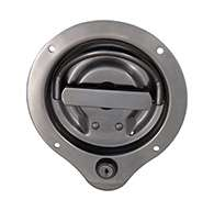 The original D Ring, locking, large cup, has 2 points of engagement, mounting holes and is made of polished 304 stainless steel