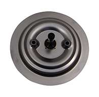 """The original D Ring, non-locking large cup with special mounting holes in cup center and 1 3/8"""" X 5/16"""" sq shank. Latch is made of polished 304 stainless steel"""