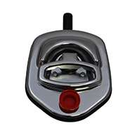 Guardian® compression latch, single point, chrome plated, CD studs. Left hand. Codeable cylinder ordered separately
