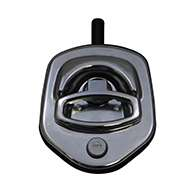 Guardian® compression latch, single point, chrome plated, CD studs. Left hand.