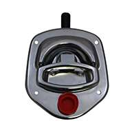 Guardian® compression latch, single point, chrome plated, mounting holes. Left hand. Codeable cylinder ordered separately