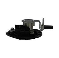 Guardian® compression latch, single point, black powder coat, CD studs. Right hand.