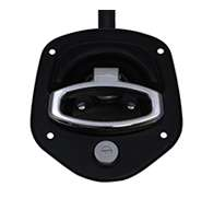 Guardian® compression latch, single point, black powder coat, mounting holes. Right hand.