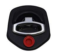 Guardian® compression latch, 2 point, black powder coat, CD studs. Left hand. Codeable cylinder ordered separately