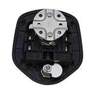Guardian® compression latch, 2 point, black powder coat, CD studs. Left hand.