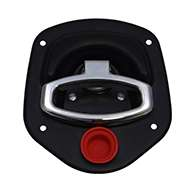 Guardian® compression latch, 2 point, black powder coat, mounting holes. Left hand. Codeable cylinder ordered separately