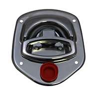 Guardian® compression latch, 2 point, chrome plated, mounting holes. Left hand. Codeable cylinder ordered separately