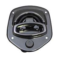 Guardian® compression latch, 2 point, chrome plated, mounting holes. Left hand.
