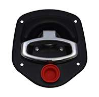 Guardian® compression latch, 2 point, black powder coat, mounting holes. Right hand. Codeable cylinder ordered seperately