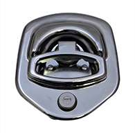 Guardian® compression latch, 2 point, chrome plated, CD studs. Right hand.