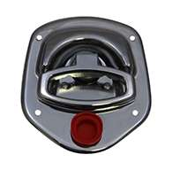 Guardian® compression latch, 2 point, chrome plated, mounting holes. Right hand. Codeable cylinder ordered separately