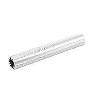 "Clear anodized aluminum knurled 1.25"" 12' rail"