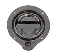 New style, locking, large cup, mounting holes, stainless steel D-ring without cam