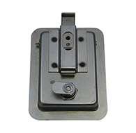 Large Flush Size Single Point Paddle Handle, w Inside release, (order Knob PMISC017 separately), Locking, No Mounting Holes