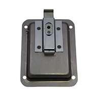 Large Flush Size Single Point Paddle Handle, 30° Bolt, Non Locking, Stainless Steel