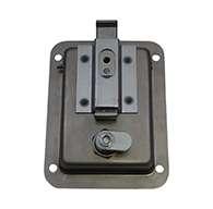 Large Flush Size Single Point Paddle Handle, (order knob PMISC017 separately), Locking, Stainless Steel