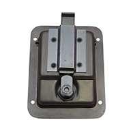Large Flush Size Single Point Paddle Handle, 30° Bolt, Locking, Stainless Steel