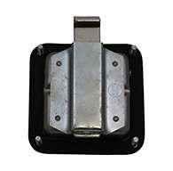Mini Size Single Point Paddle Handle, Locking, 30° Powder Metal Bolt, J201 Key Code, Stainless Steel, Blind Mounting Studs, Gasket