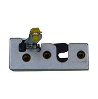 """Full size 2 stage rotary latch with long parallel pull lever arm and rod clip, right hand, zinc plated. Accepts .25"""" striker."""