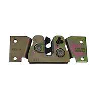 """Full size 2 stage rotary latch with base plate, left hand, zinc plated. Accepts .312"""" diameter striker."""