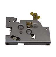 Rotary Latch controller with plate, left hand. Zinc plated. Kit includes cable clip and cotter pin.
