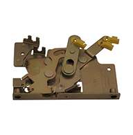 Rotary Latch controller with plate, right hand. Zinc plated. Kit includes cable clip and cotter pin.