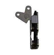 """Full size 2 stage rotary latch with parellel or perpendicular pull lever arm, right hand, zinc plated. Accepts .550"""" diameter striker."""