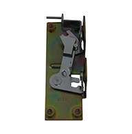 Rotary Latch controller with base plate, left hand, zinc plated.