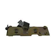 Rotary Latch controller with base plate, right hand, zinc plated.