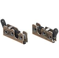 Small 2 stage rotary latch, left hand, zinc plated. Accepts .375 diameter striker.