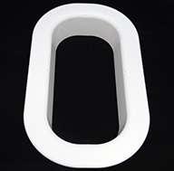 """Long Trim Ring White, 2.25"""" High"""