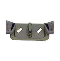 Full size 2 stage rotary latch with base plate, left hand, zinc plated. Accepts .312″ diameter striker.